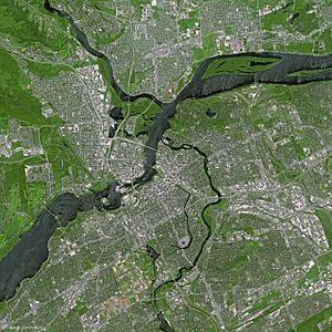 Ottawa by SPOT Satellite