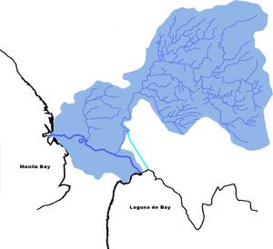 English: The drainage basin of the Pasig-Marik...