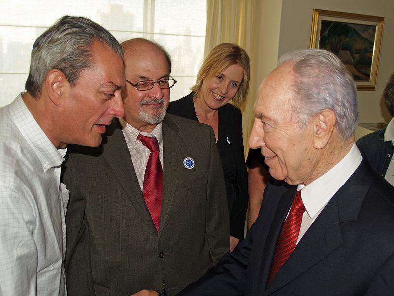 Paul Auster, Salman Rushdie, Shimon Peres
