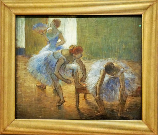 """Three Dancers at a Dance Class"" by Edgar Degas"