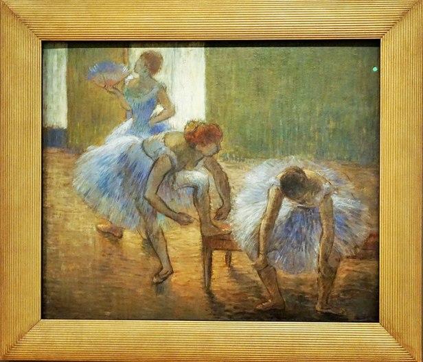 "Queensland Art Gallery - Joy of Museums - ""Three Dancers at a Dance Class"" by Edgar Degas"