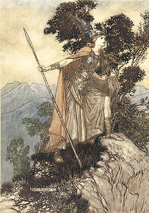 Brünnhilde the valkyrie. Illustration to Richa...