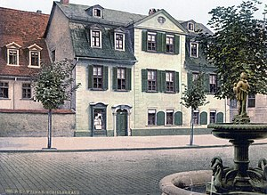 Schillers house in Weimar around 1900