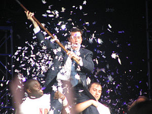 Stephen Colbert during an appearance at Florid...