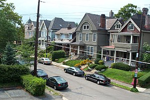Street in Shadyside, a neighborhood in the Eas...