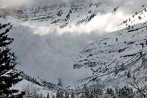 Avalanche on Mt. Timpanogos Utah