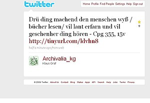 A Twitter tweet