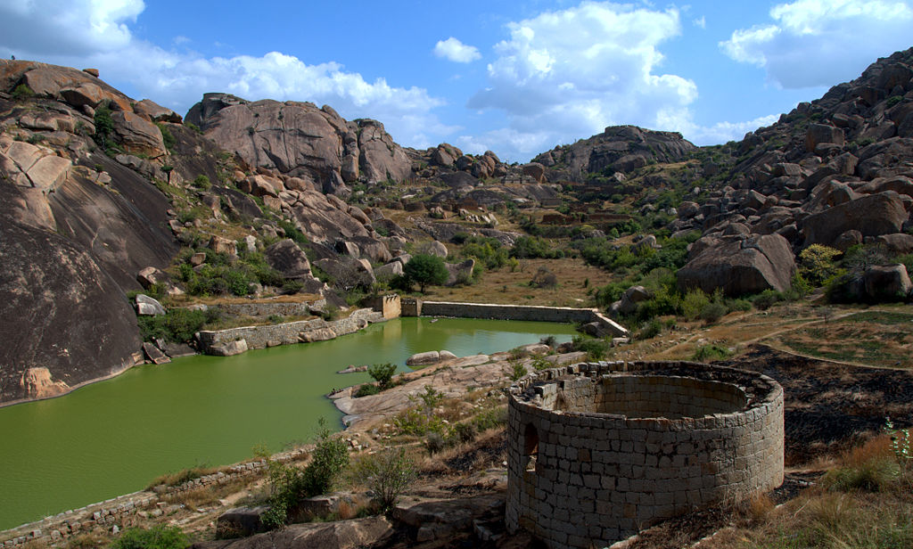 View of lake inside fort Chitradurga