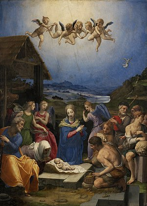 Adoration of the Shepherds, Bronzino