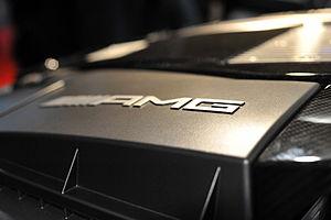 English: AMG carbon fiber engine at the Geneva...