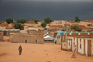 English: Bareina, a small desert village in th...