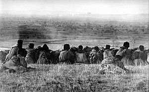 Balkan Wars. Bulgarian forces waiting to comme...