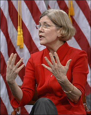 English: Elizabeth Warren speaking at March 29...