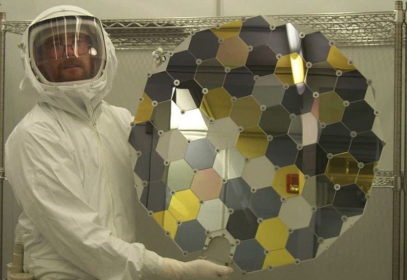 A Genesis collector array in the Genesis clean lab at the Johnson Space Center (photo courtesy of NASA).