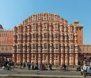 English: Hawa Mahal, Jaipur, India. Polski: Pa...