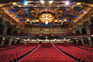 View standing on the stage of the Pantages The...