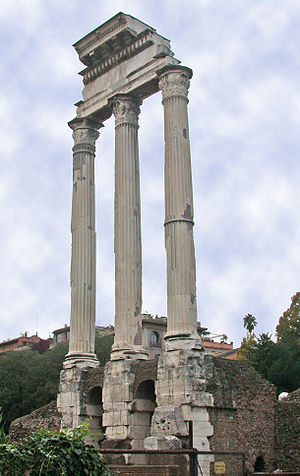 Fragmentary remains of the Temple of Castor an...