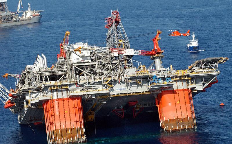 Sinking Oil Platform