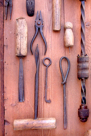 English: Old Hand tools - for woodworking, or ...