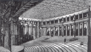 1875 engraving of the Bayreuth Festival Theatre