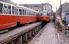 Werkstattgrube bei der Straßenbahn Wien