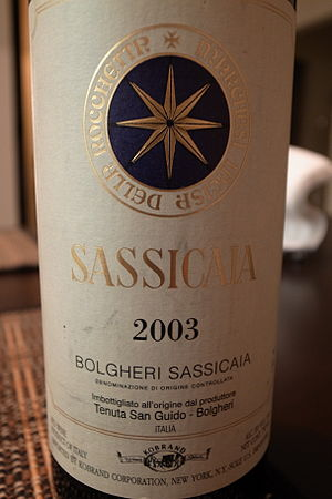Italian Super Tuscan wine from Tenuta San Guido