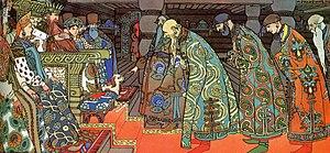 The Merchants visit Tsar Saltan (Act 3)