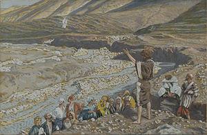 Saint John the Baptist Sees Jesus from Afar