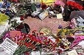 Jackson's Star with flowers and notes on it