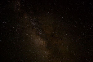 A view of the night sky near Sagittarius.