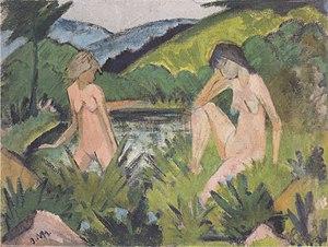 Otto Mueller - Zwei Akte am See - ca1929