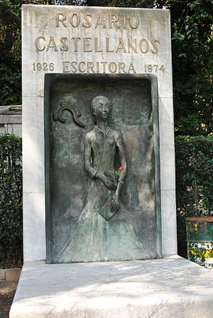 English: Tomb of Rosario Castellanos in the Pa...