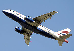Airbus A319 takes off from London Heathrow Airport
