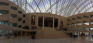 English: Edmonton City Hall interior panorama,...