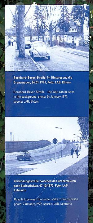 Memorial plaque, Steinstücken, Königsweg 308, ...