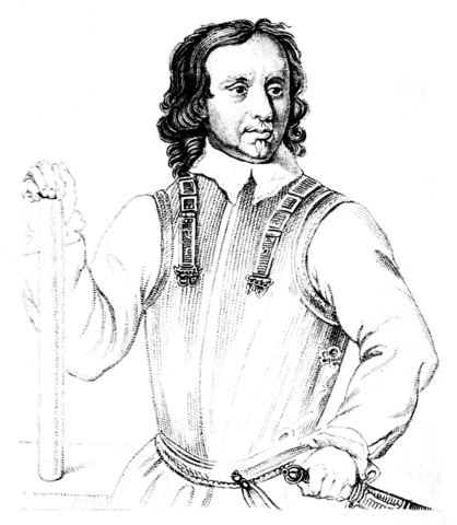 Drawing of Oliver Cromwell