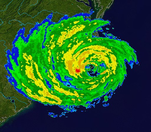 Hurricane Isabel NC landfall radar