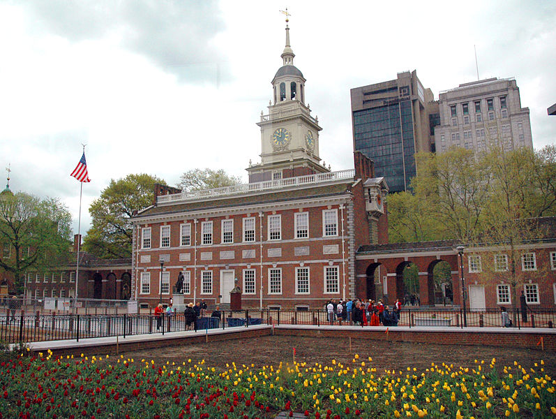 The front of Independence Hall in Philadelphia, Pennsylvania Rdsmith4