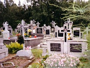 - 2001 personal photo of Jednorozec cemetery.