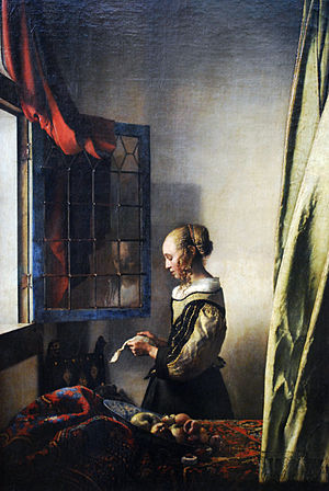 Girl reading a Letter at an Open Window (fragment)