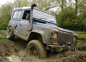 Landrover Defender 90 Off roading (Stuck) Cate...