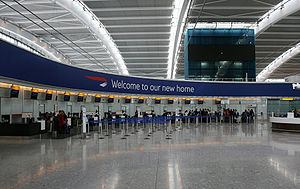 Terminal 5 at London Heathrow Airport