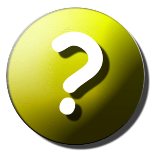 English: Question-mark icon