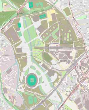 English: Map of en:Queen Elizabeth Olympic Par...