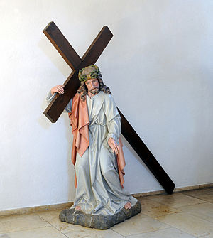 English: Schliengen: Saint Leodegar Church, li...