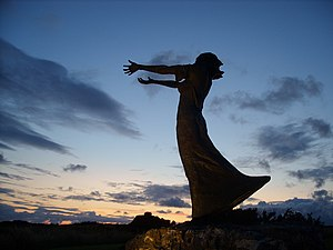 This is a sculpture in Rosses Point, County Sl...