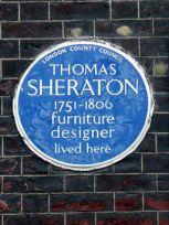 THOMAS SHERATON 1751-1806 furniture designer lived here