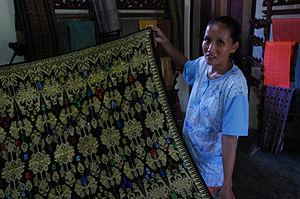 Traditional sasak weaving