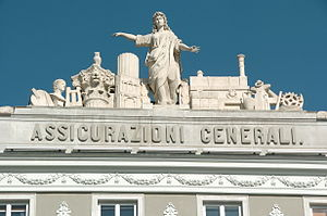 Front detail of Assicurazioni Generali, Piazza...