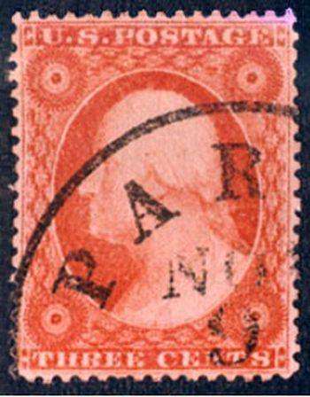 English: US Postage stamp, Washington, 1857 is...